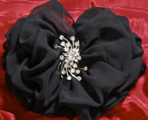 Becca Bow with chiffon and jewel, $40 and up