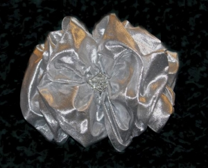 Becca Bow with lining and silver lame $45